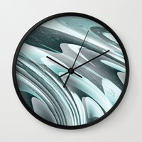 ice Wall Clocks featuring Ice by Casey