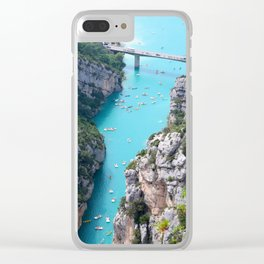 Cliffs And Tosca Clear iPhone Case
