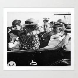 Admiral Richard Byrd and FDR - 1935 Art Print