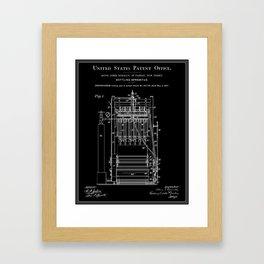 Beer Bottler Patent - Black Framed Art Print