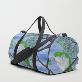 A painting of a quaker parrot Duffle Bag