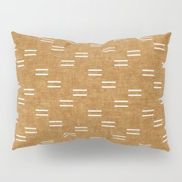 double dash on mustard Pillow Sham