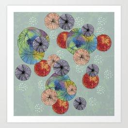 Abstract Solar System Art Print