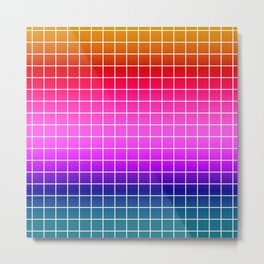 2Rainbow plaid #Ombre #gradient Metal Print