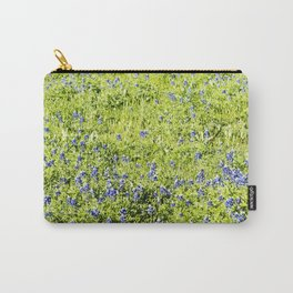 Texas Bluebonnet Field Carry-All Pouch