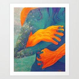 Gripping Embrace Art Print