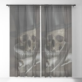 An Unknown Poet Sheer Curtain