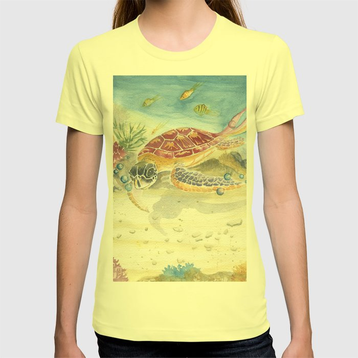 Colorful Sea Turtle 2 T-shirt by mellyterpening | Society6