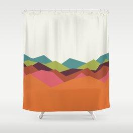 Chevron Mountain Shower Curtain