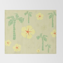 Midcentury Tiki Print Hawaii Retro Vintage Throw Blanket