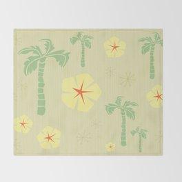 Midcentury Tiki Print Hawaii Retro Vintage Throw Blanket