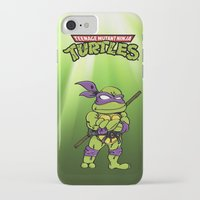 ninja turtle iPhone & iPod Cases featuring Ninja Turtle by flydesign