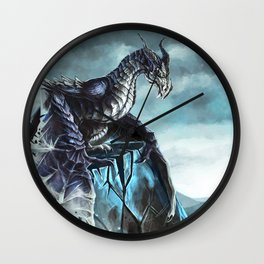 Frost Dragon Wall Clock