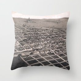 Bismarck - North Dakota - 1883 Throw Pillow