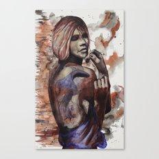 Lara ink by carographic, Carolyn Mielke Canvas Print