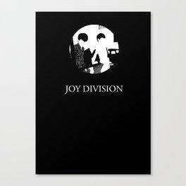 JOY DIVISION - Music | Goth | Indie | Wave | Retro | Vintage | Vector | Black and White | Vinyl  Canvas Print