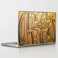 angel wings Laptop & iPad Skins featuring Angel Wings by Eve Beth