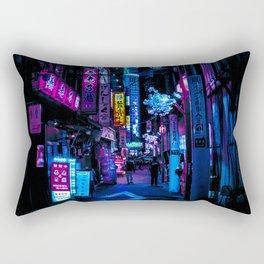Tokyo's Blade Runner Vibes Rectangular Pillow