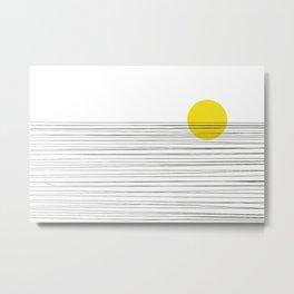 Sun and River Metal Print