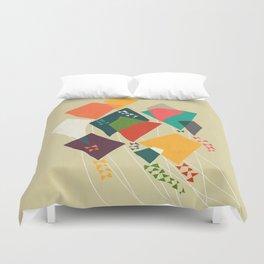 Whimsical kites Duvet Cover