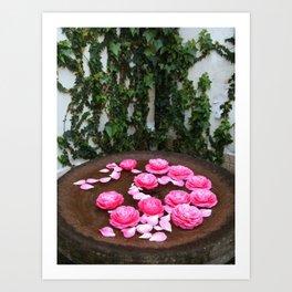 Floral bath Art Print