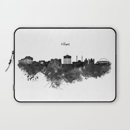 Athens Black and White Skyline Laptop Sleeve