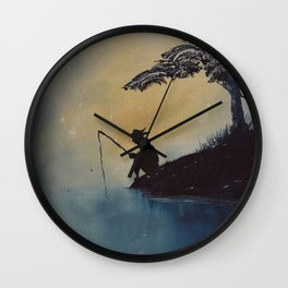 Adventures of Huckleberry Finn by Mark Twain Wall Clock