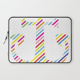 Colored Diagonal Lined Ank Laptop Sleeve