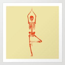 Skeleton Vriksasana Art Print