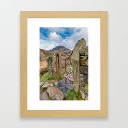 Gate To Tryfan Snowdonia Framed Art Print