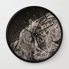 The Tiger Wall Clock