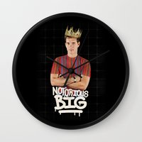 notorious big Wall Clocks featuring Notorious BIG by Alpha-Tone