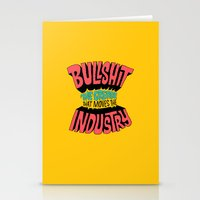 grease Stationery Cards featuring The Grease That Moves The Industry by Chris Piascik