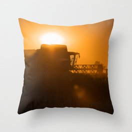 Midsummer time is harvest time of the cereal fields Throw Pillow