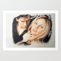 buffy the vampire slayer Art Prints featuring Buffy - The Vampire Slayer by ChiaraG27