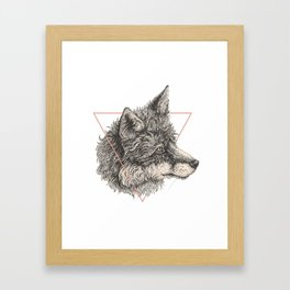 triangle fox Framed Art Print