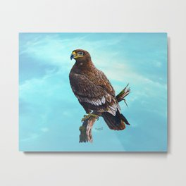 Steppe-Eagle Metal Print