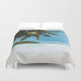 Tropical Palm Beach Duvet Cover