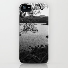 derwentwater through the trees from friars crag iPhone Case