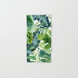 Tropical Jungle Leaves Hand & Bath Towel