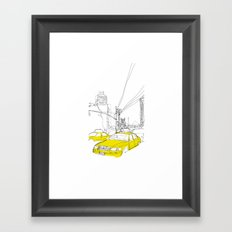 Cross Town Traffic Framed Art Print