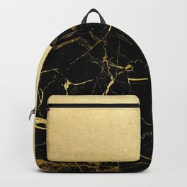 Gold and Black Marble Backpack