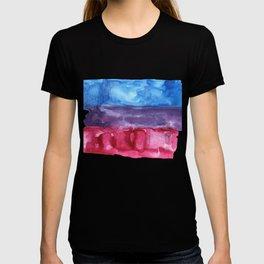 bisexual watercolor flag T-shirt