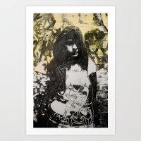 jenna kutcher Art Prints featuring JENNA by JESSE OLWEN