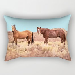 Horses #society6 #decor #buyart Rectangular Pillow