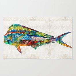 Colorful Dolphin Fish by Sharon Cummings Rug