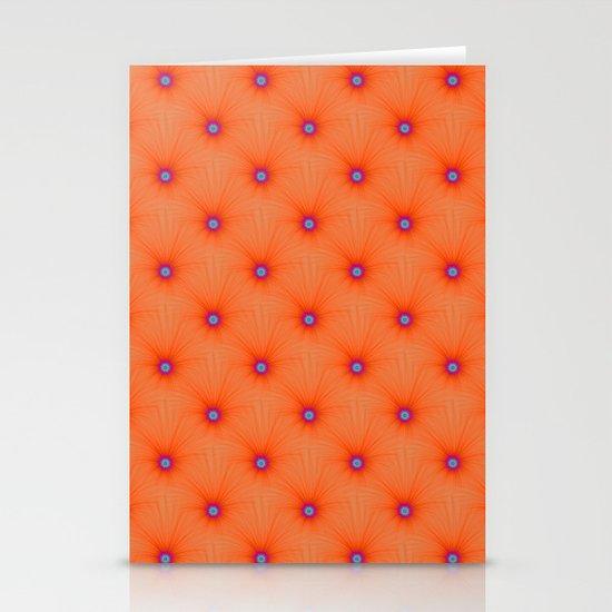 Tangerine Color Explosion Tiled Stationery Cards
