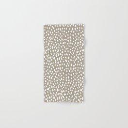 White on Dark Taupe spots Hand & Bath Towel