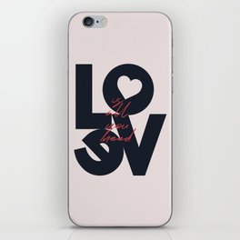 All you need is love, The Beatle music quote, Valentine's Day, just married, couples gift, present iPhone Skin