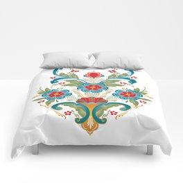 Nordic Rosemaling Comforters